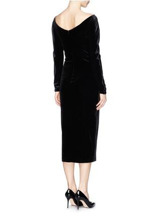 Armani Collezioni-Bateau neck velvet dress