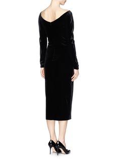ARMANI COLLEZIONI Bateau neck velvet dress