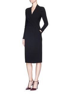 ARMANI COLLEZIONISurplice neckline stretch crepe dress