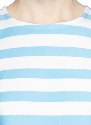 Detail View - Click To Enlarge - TANYA TAYLOR - 'Iris' stripe neoprene cold shoulder top