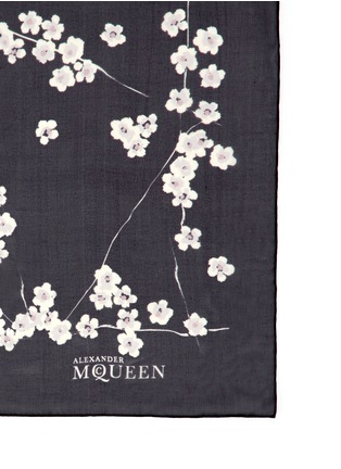 Detail View - Click To Enlarge - Alexander McQueen - Cherry blossom print silk chiffon scarf