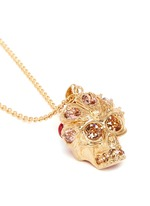 Crystal skull flower pendant necklace