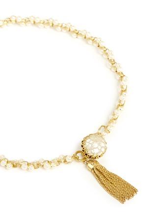 MIRIAM HASKELL-珍珠金属串珠项链