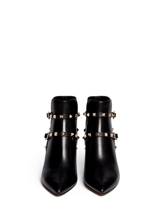 Figure View - Click To Enlarge - Valentino - 'Rockstud' double strap leather boots