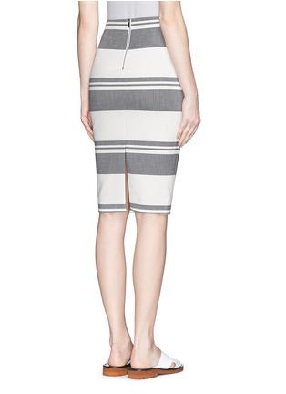 Back View - Click To Enlarge - Elizabeth and James - 'Aisling' variegated stripe pencil skirt