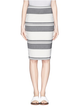 Main View - Click To Enlarge - Elizabeth and James - 'Aisling' variegated stripe pencil skirt