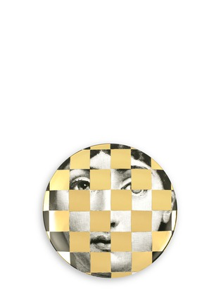 Fornasetti - Lacquer covered face print wall plate