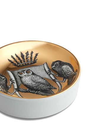 Detail View - Click To Enlarge - Fornasetti - Stemma di Civette round ashtray