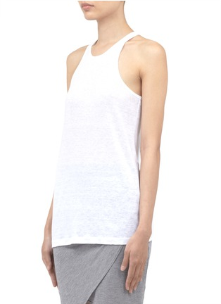 Front View - Click To Enlarge - T By Alexander Wang - Linen-silk tank top