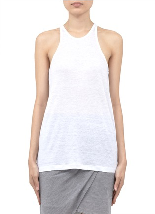Main View - Click To Enlarge - T By Alexander Wang - Linen-silk tank top