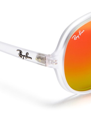 Detail View - Click To Enlarge - Ray-Ban - Matte acetate aviator mirror sunglasses