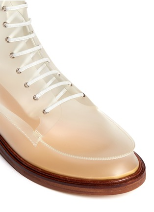 Detail View - Click To Enlarge - MM6 MAISON MARTIN MARGIELA - PVC lace-up booties