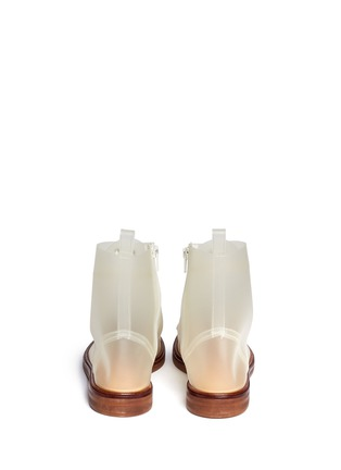 Back View - Click To Enlarge - MM6 MAISON MARTIN MARGIELA - PVC lace-up booties