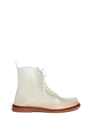 Main View - Click To Enlarge - MM6 MAISON MARTIN MARGIELA - PVC lace-up booties