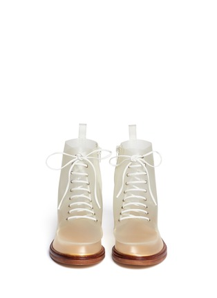 Figure View - Click To Enlarge - MM6 MAISON MARTIN MARGIELA - PVC lace-up booties