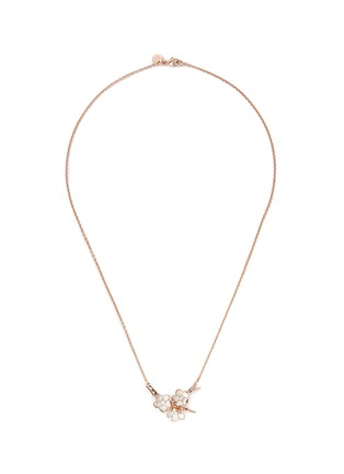 首图 - 点击放大 - SHAUN LEANE - Small branch pendant diamond and cultured pearl necklace