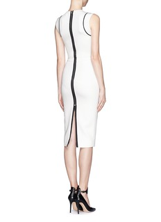 VICTORIA BECKHAM Contrast piping sheath dress