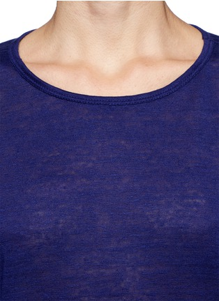 Detail View - Click To Enlarge - T By Alexander Wang - Linen silk jersey oversized tee