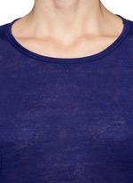 Linen silk jersey oversized tee