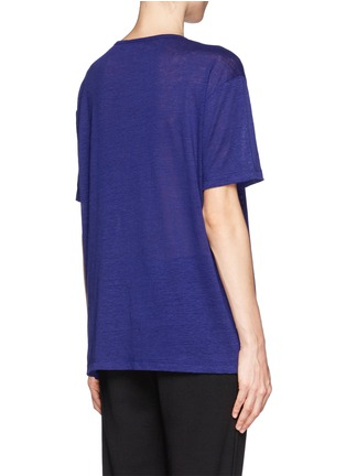 Back View - Click To Enlarge - T By Alexander Wang - Linen silk jersey oversized tee