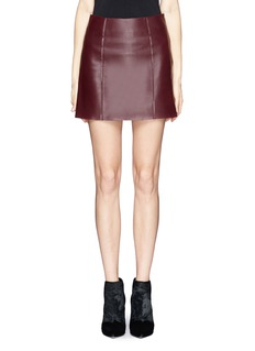 T BY ALEXANDER WANG Raw finish leather skirt