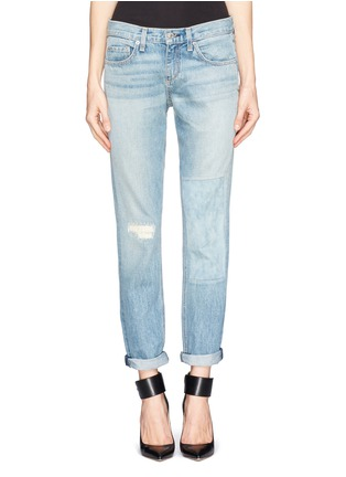 Main View - Click To Enlarge - rag & bone/JEAN - Patchwork boyfriend jeans
