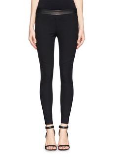 RAG & BONEDaria leather waistband leggings
