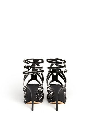 Back View - Click To Enlarge - B BY BRIAN ATWOOD - Carbinia contrast trim strappy sandals