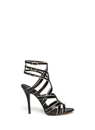 Main View - Click To Enlarge - B BY BRIAN ATWOOD - Carbinia contrast trim strappy sandals