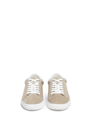 Front View - Click To Enlarge - Ash - 'Dazed' star stud suede sneakers