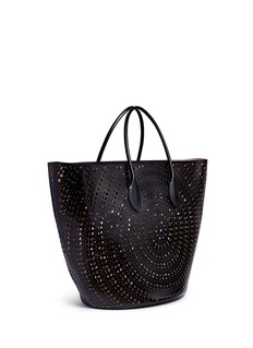 Alaïa 'New Vienne' large lasercut leather beach tote