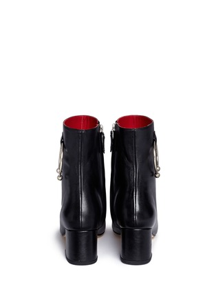 Back View - Click To Enlarge - Dorateymur - 'Nizip' metal hoop leather ankle boots