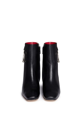 Front View - Click To Enlarge - Dorateymur - 'Nizip' metal hoop leather ankle boots