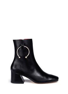 Dorateymur'Nizip' metal hoop leather ankle boots