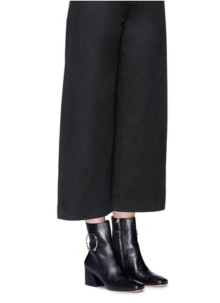 Figure View - Click To Enlarge - Dorateymur - 'Nizip' metal hoop leather ankle boots