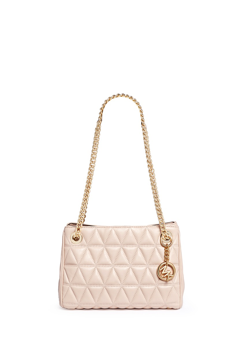 Scarlett medium quilted leather chain satchel by Michael Kors