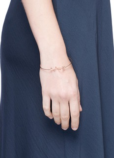 JACQUELINE RABUNx Studiomama 'A Line of Love' 18k rose gold bracelet