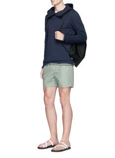 DANWARDPoplin hood cotton-linen hoodie