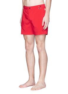 DANWARD Mid length flat front swim shorts