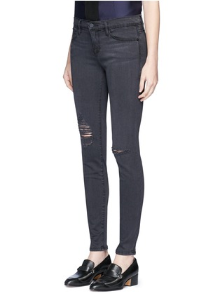 Front View - Click To Enlarge - Frame Denim - 'Le Skinny De Jeanne' high waist ripped jeans