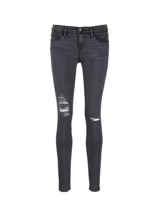 Main View - Click To Enlarge - Frame Denim - 'Le Skinny De Jeanne' high waist ripped jeans