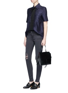 Frame Denim'Le Skinny De Jeanne' high waist ripped jeans