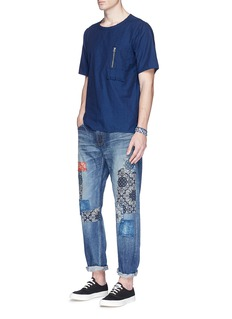 FDMTL'Heritage CS34' paisley print patchwork jeans