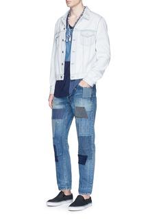 FDMTL'Trace CS35' slim fit boro patchwork jeans