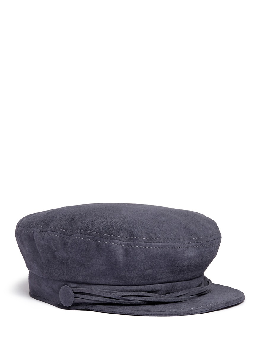 Aby multi-strand goat suede officer cap by Maison Michel