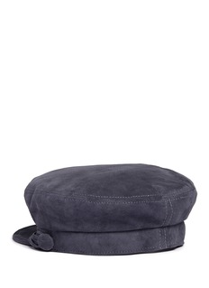 Maison Michel 'Aby' multi-strand goat suede officer cap