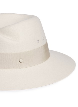 Detail View - Click To Enlarge - Maison Michel - 'Virginie' rabbit furfelt fedora hat