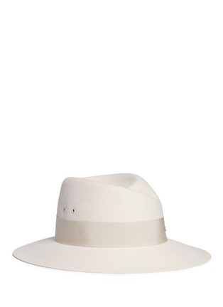 Main View - Click To Enlarge - Maison Michel - 'Virginie' rabbit furfelt fedora hat