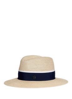 Maison Michel'Henrietta' ribbon band hemp straw fedora hat