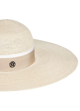 Detail View - Click To Enlarge - Maison Michel - 'Blanche' straw capeline hat
